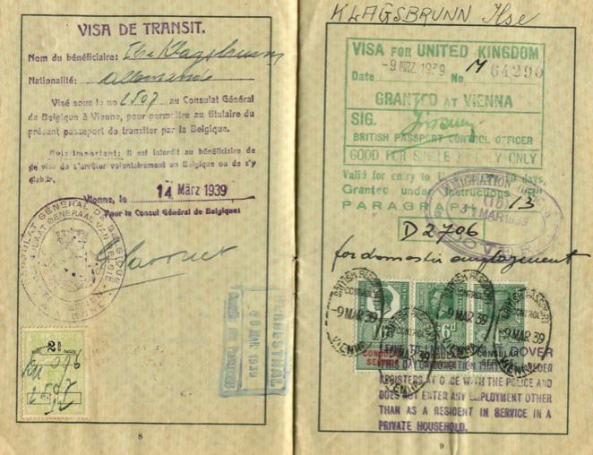 UK visa 1939