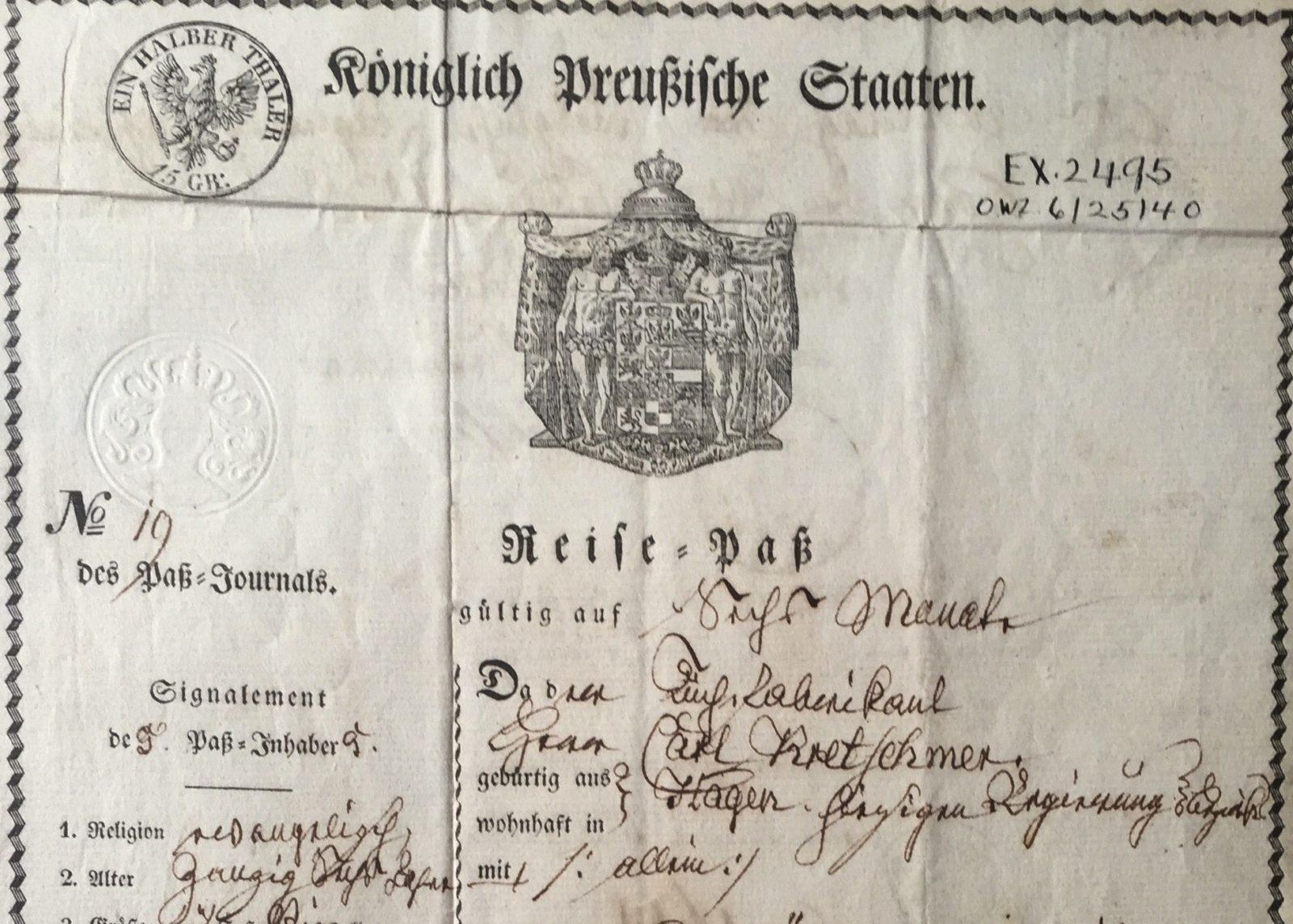 Prussian passport