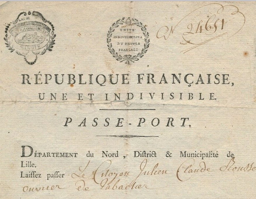 French passport 1794