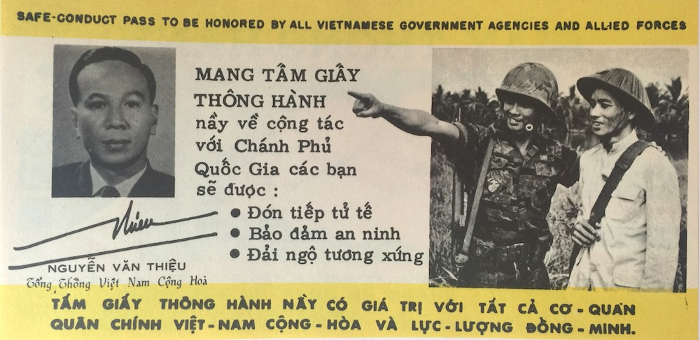 Vietnam Safe Conduct Pass